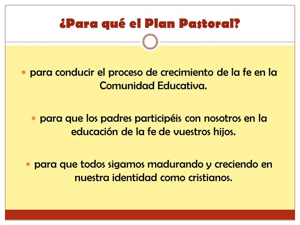 ¿Para qué el Plan Pastoral