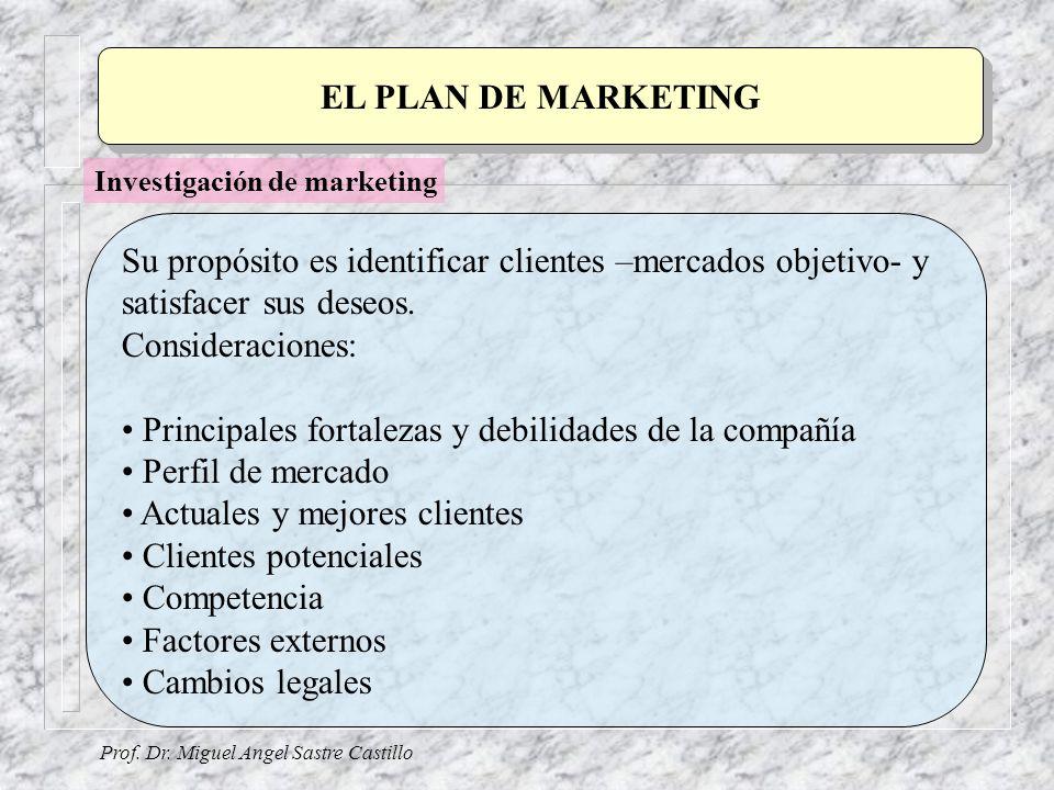 Su propósito es identificar clientes –mercados objetivo- y