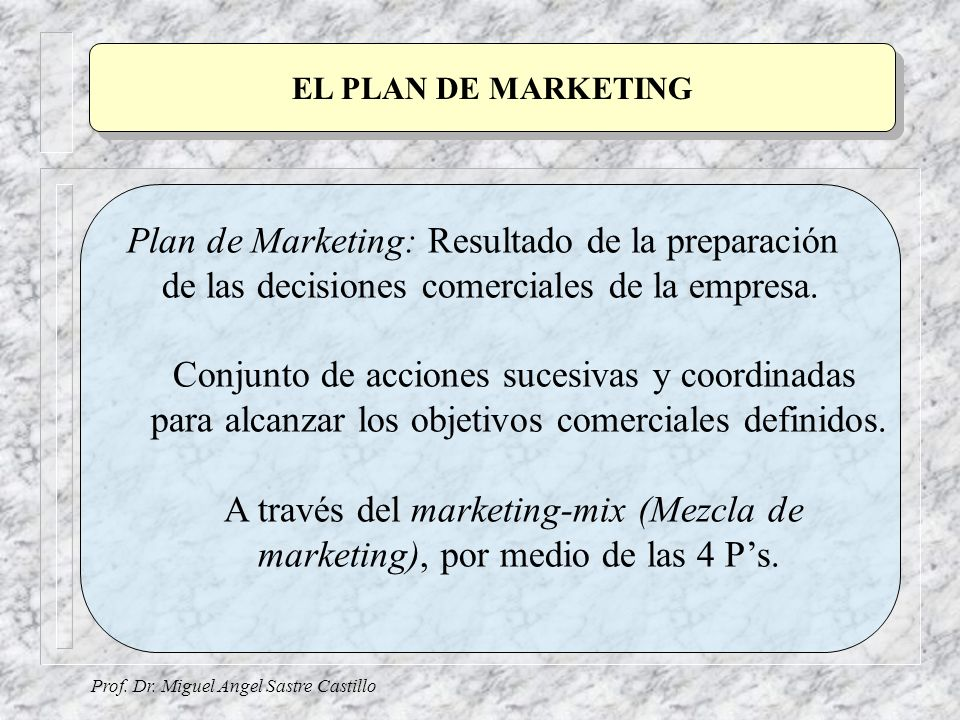 Plan de Marketing: Resultado de la preparación