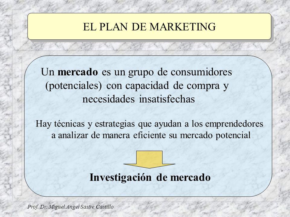 Un mercado es un grupo de consumidores