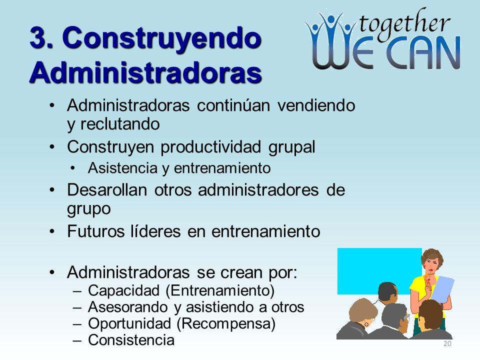 3. Construyendo Administradoras