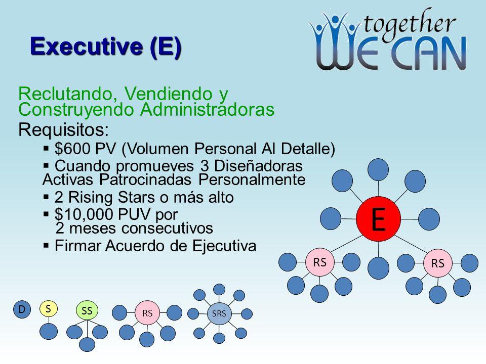 E Executive (E) Reclutando, Vendiendo y Construyendo Administradoras