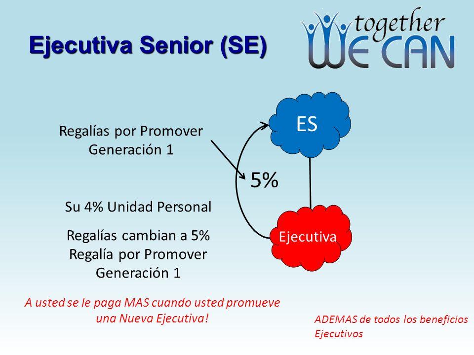 Ejecutiva Senior (SE) ES 5% Regalías por Promover Generación 1