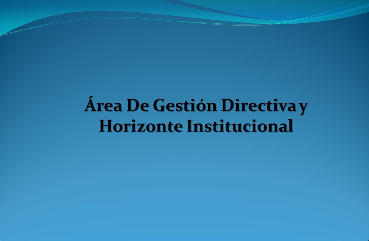 Área De Gestión Directiva y Horizonte Institucional