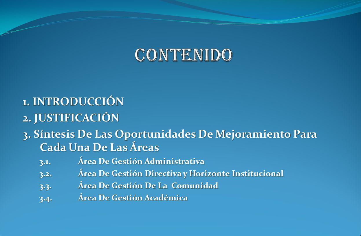 CONTENIDO 1. INTRODUCCIÓN 2. JUSTIFICACIÓN