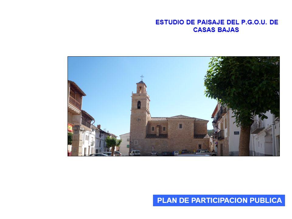 ESTUDIO DE PAISAJE DEL P.G.O.U. DE CASAS BAJAS