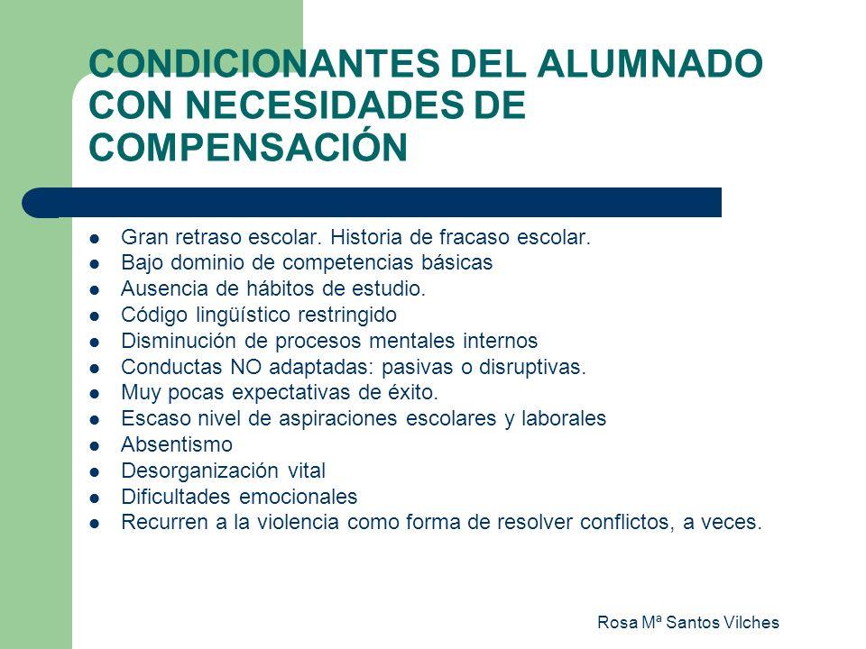 CONDICIONANTES DEL ALUMNADO CON NECESIDADES DE COMPENSACIÓN