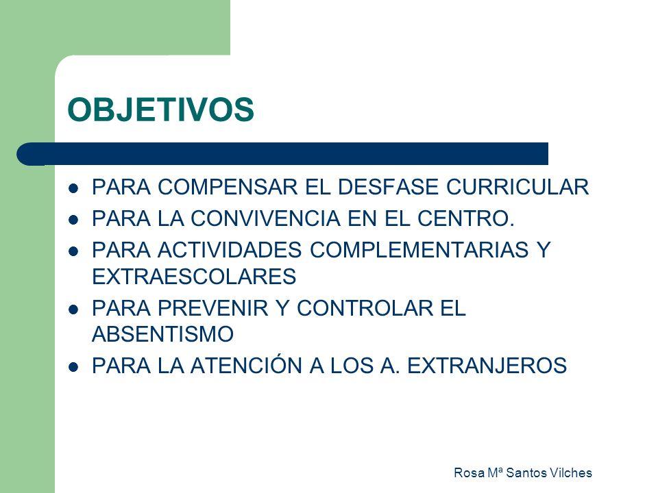 OBJETIVOS PARA COMPENSAR EL DESFASE CURRICULAR