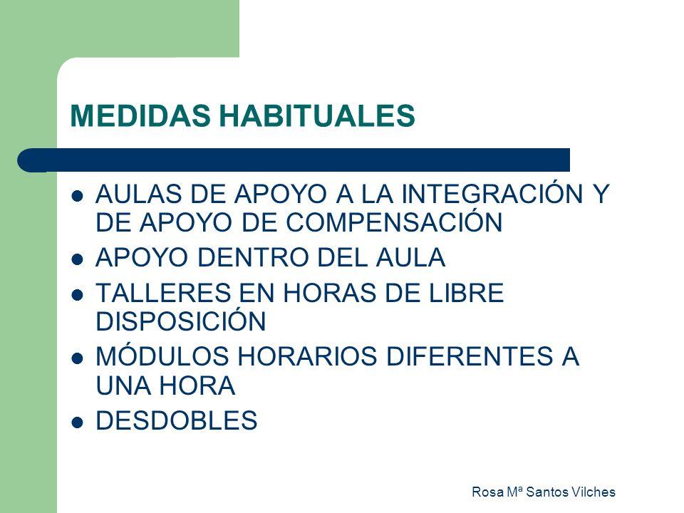 MEDIDAS HABITUALES AULAS DE APOYO A LA INTEGRACIÓN Y DE APOYO DE COMPENSACIÓN. APOYO DENTRO DEL AULA.