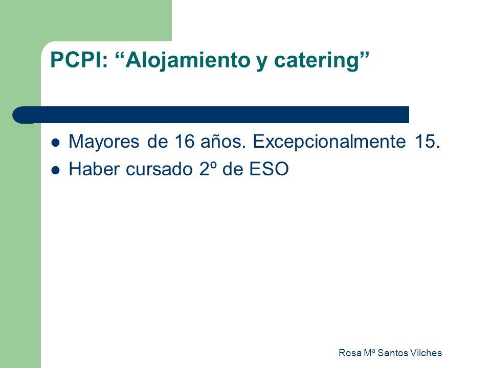 PCPI: Alojamiento y catering