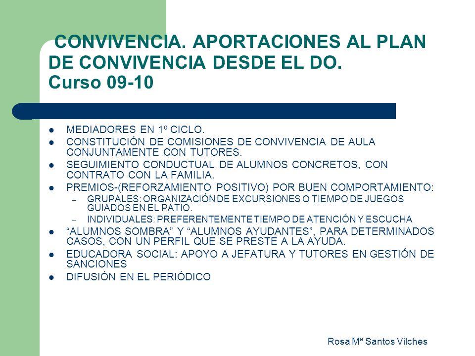 CONVIVENCIA. APORTACIONES AL PLAN DE CONVIVENCIA DESDE EL DO