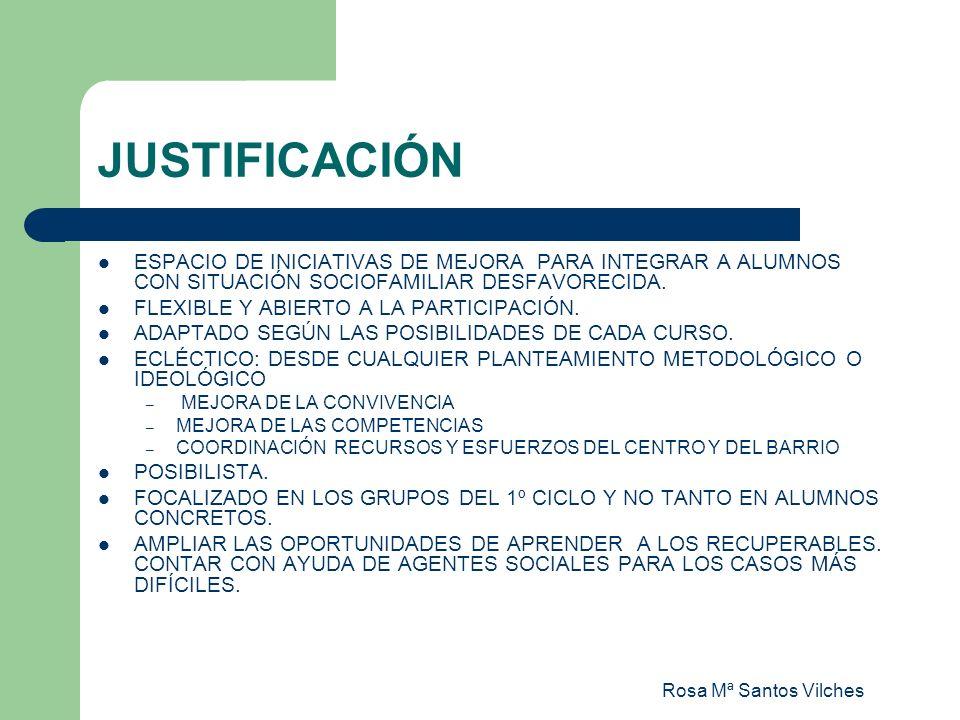 JUSTIFICACIÓN ESPACIO DE INICIATIVAS DE MEJORA PARA INTEGRAR A ALUMNOS CON SITUACIÓN SOCIOFAMILIAR DESFAVORECIDA.