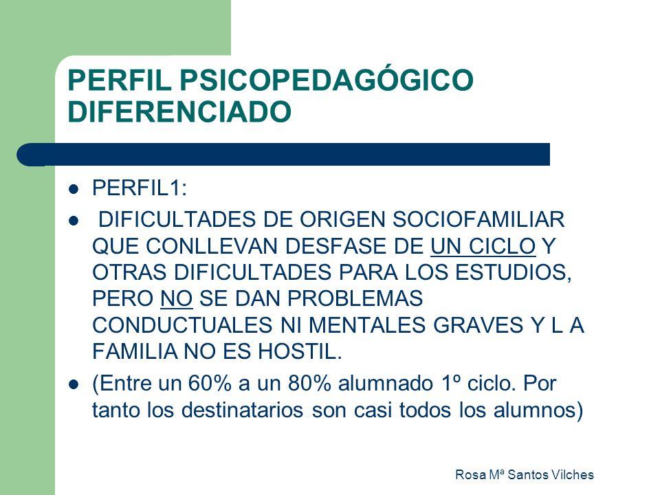 PERFIL PSICOPEDAGÓGICO DIFERENCIADO