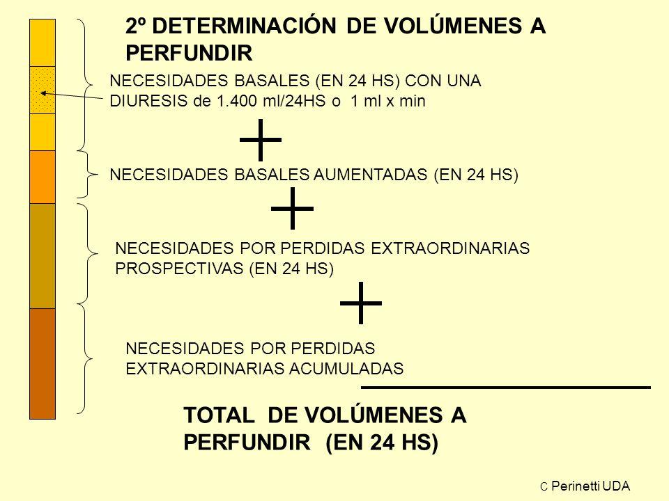 2º DETERMINACIÓN DE VOLÚMENES A PERFUNDIR