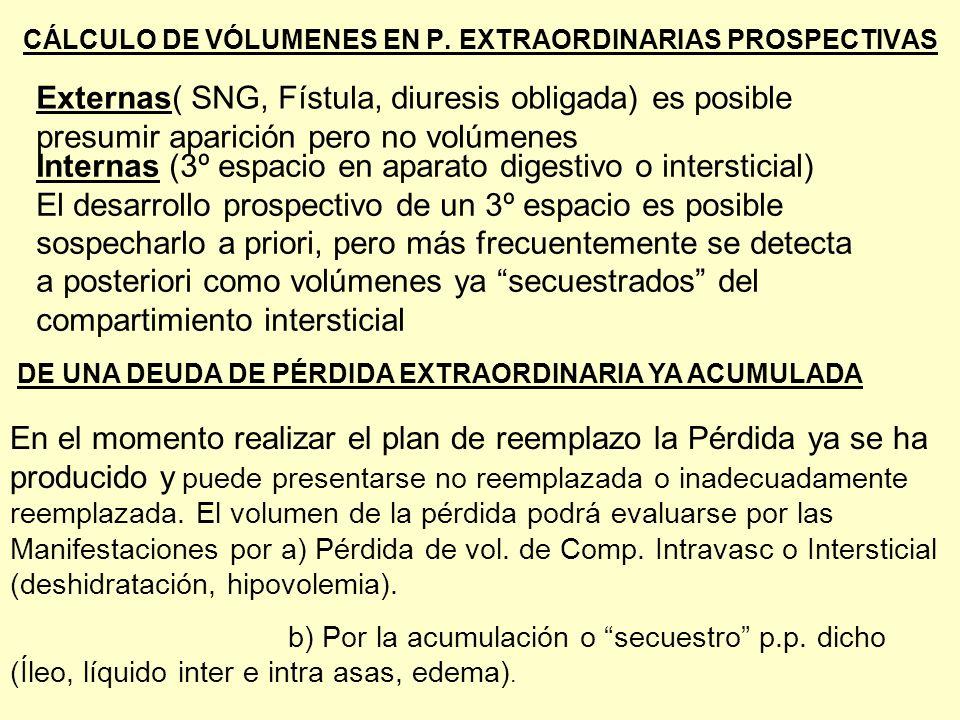 CÁLCULO DE VÓLUMENES EN P. EXTRAORDINARIAS PROSPECTIVAS
