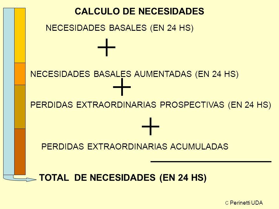 CALCULO DE NECESIDADES