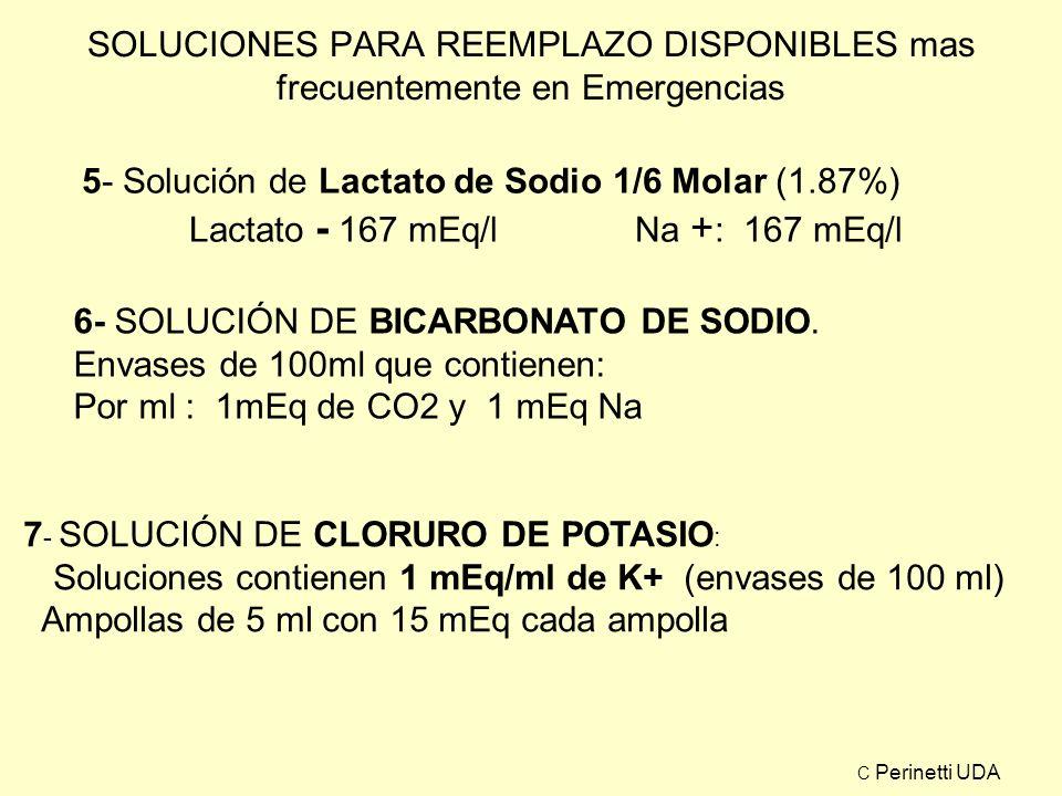 5- Solución de Lactato de Sodio 1/6 Molar (1.87%)