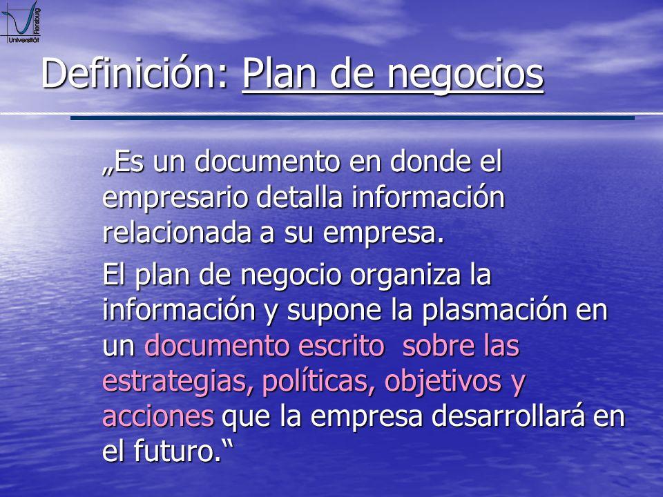 Definición: Plan de negocios