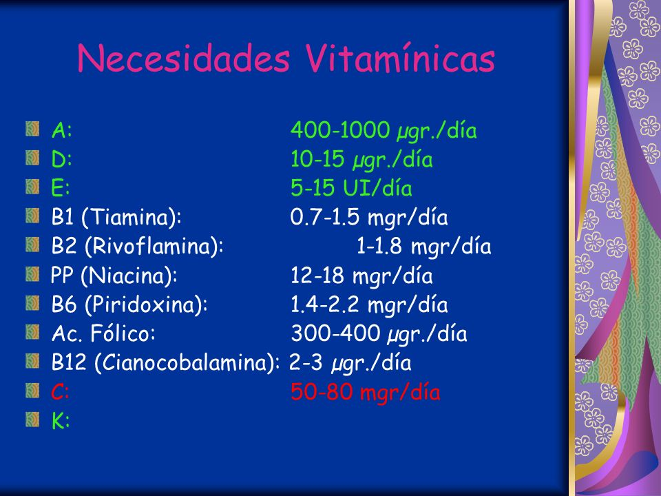 Necesidades Vitamínicas