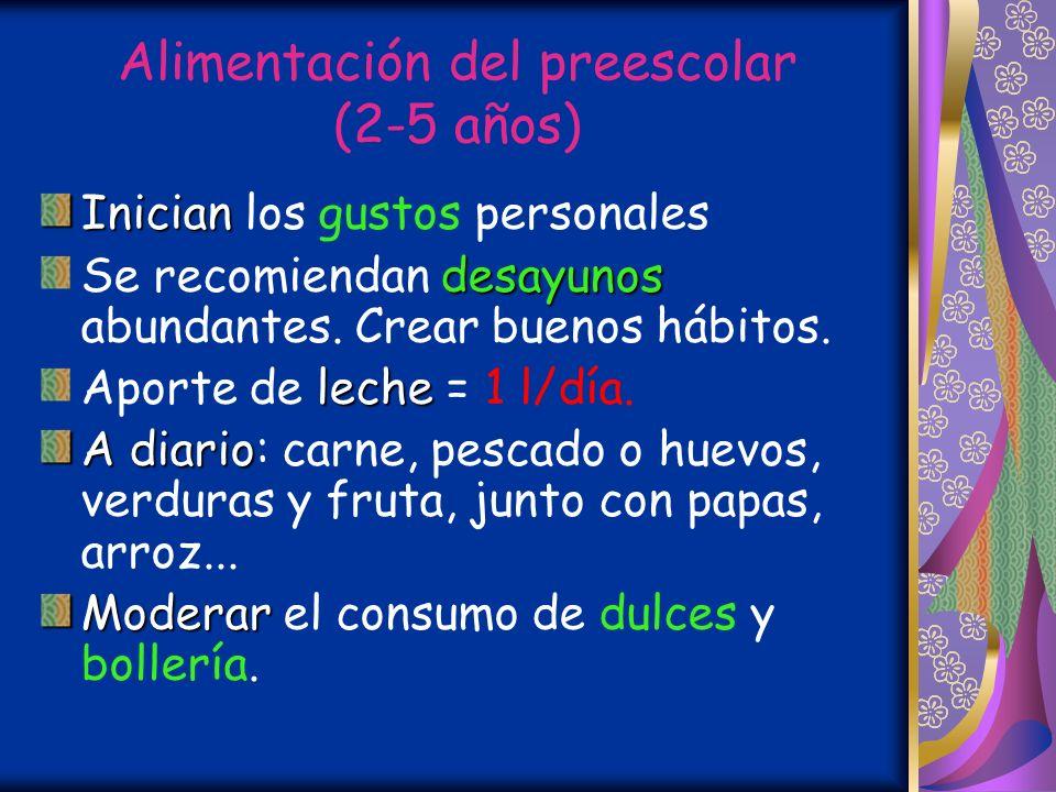 Alimentación del preescolar (2-5 años)