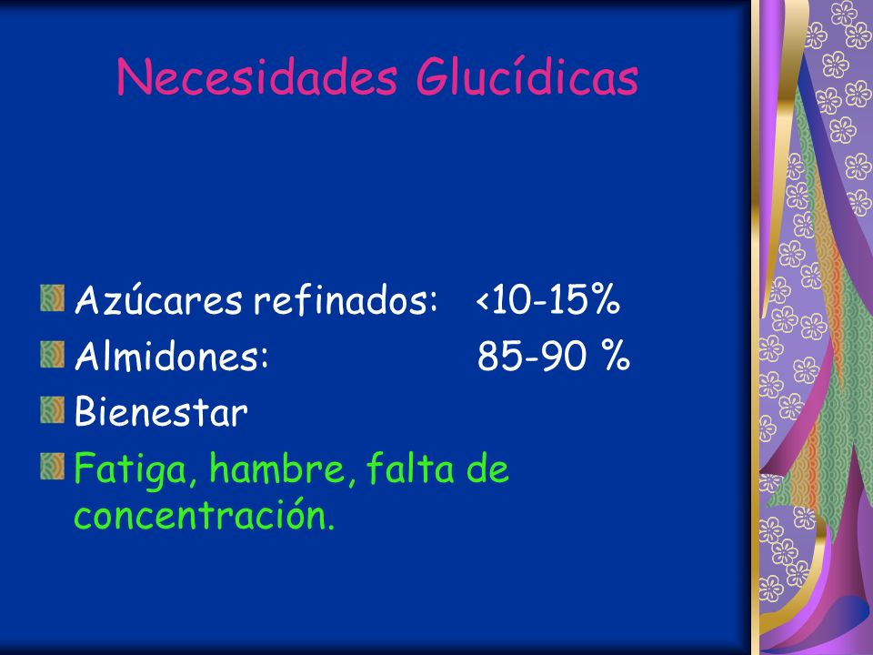 Necesidades Glucídicas