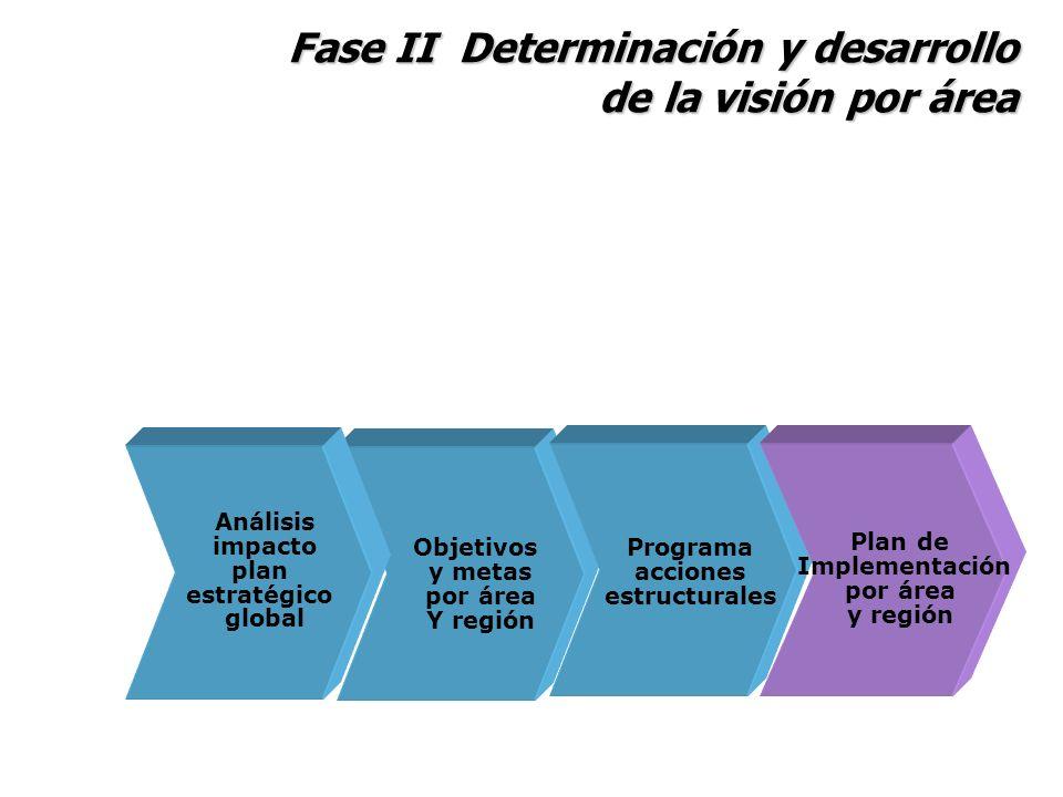 Fase II Determinación y desarrollo de la visión por área