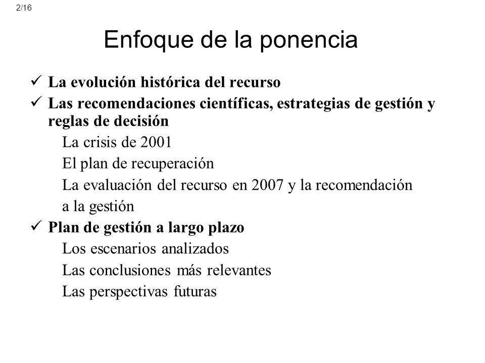Enfoque de la ponencia La evolución histórica del recurso