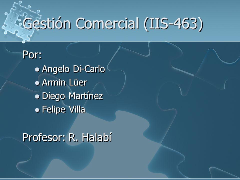 Gestión Comercial (IIS-463)