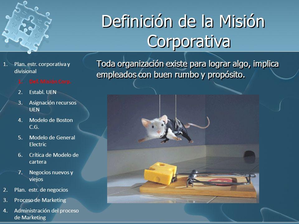 Definición de la Misión Corporativa