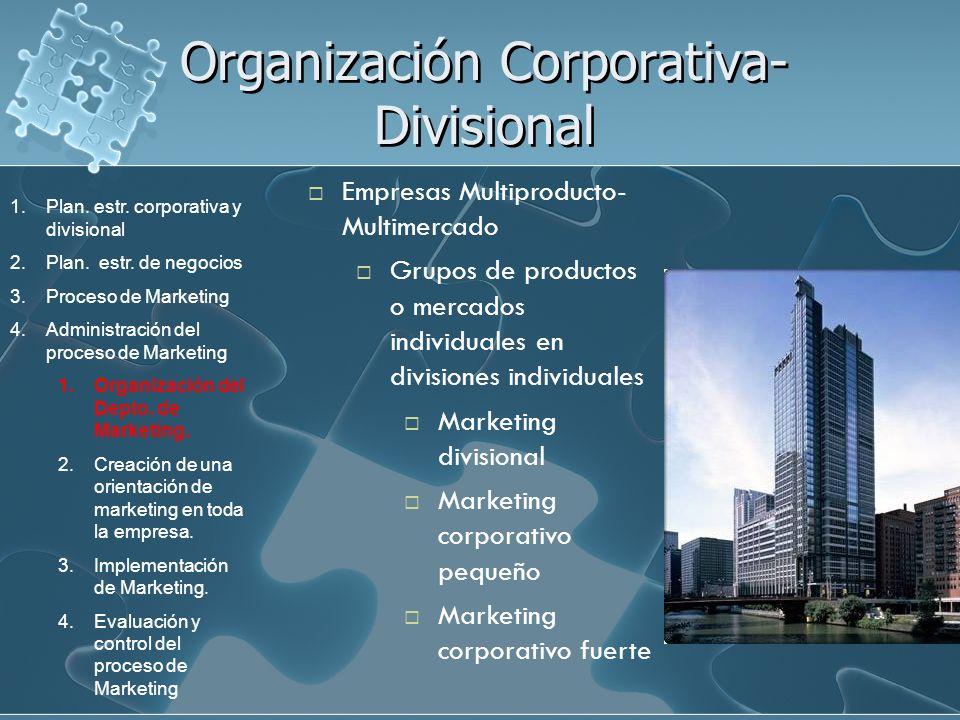 Organización Corporativa-Divisional