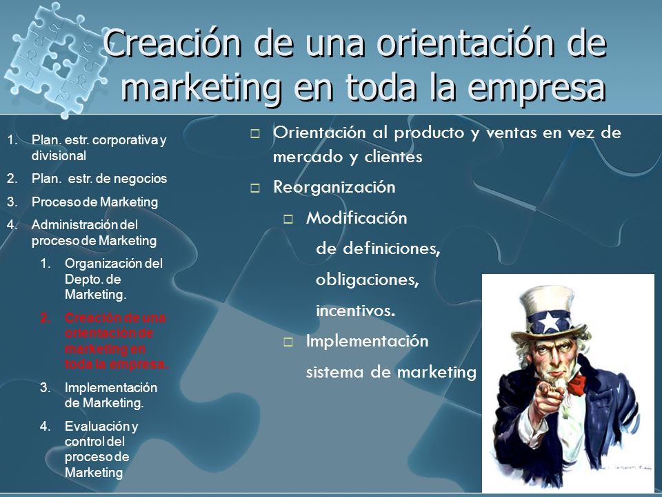 Creación de una orientación de marketing en toda la empresa
