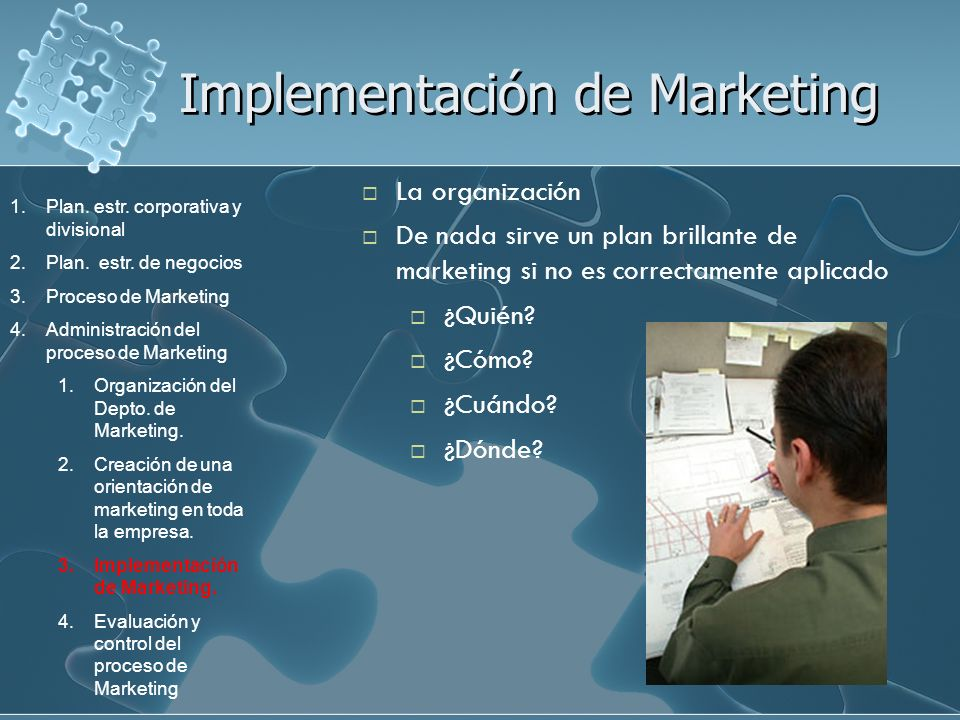 Implementación de Marketing