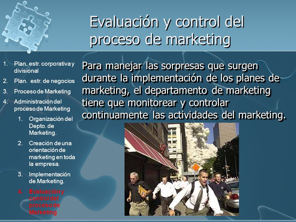 Evaluación y control del proceso de marketing