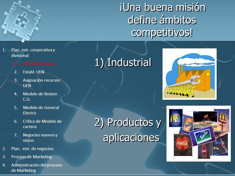 ¡Una buena misión define ámbitos competitivos!