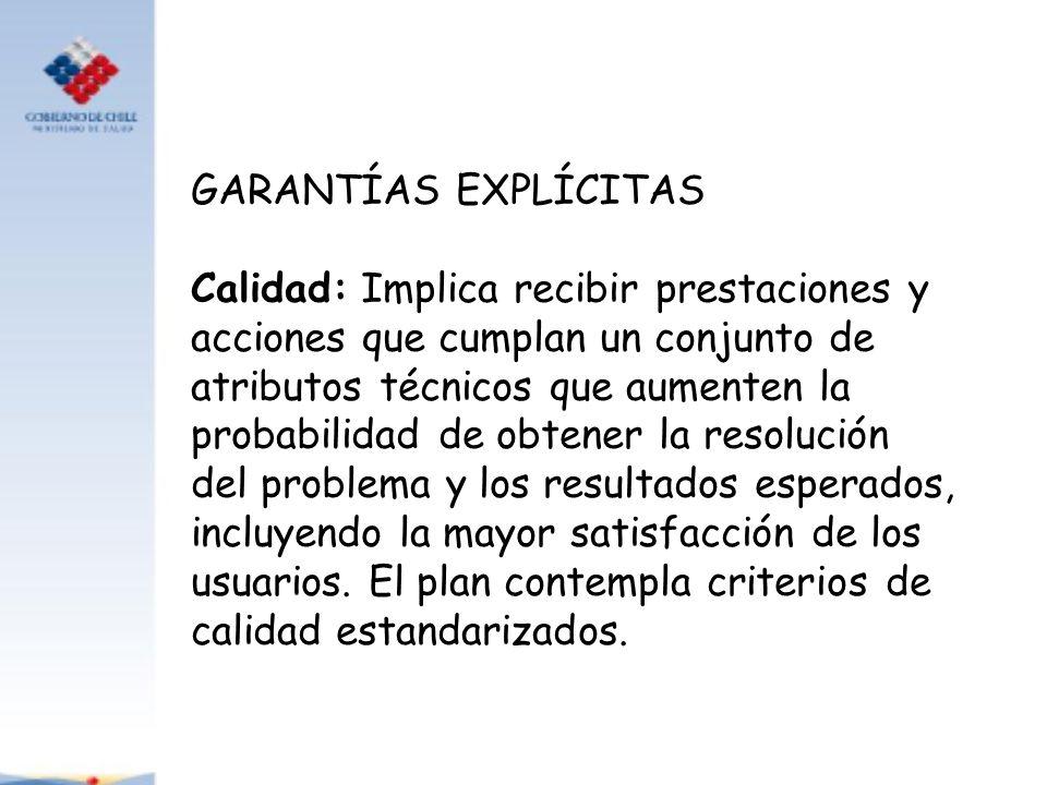 GARANTÍAS EXPLÍCITAS