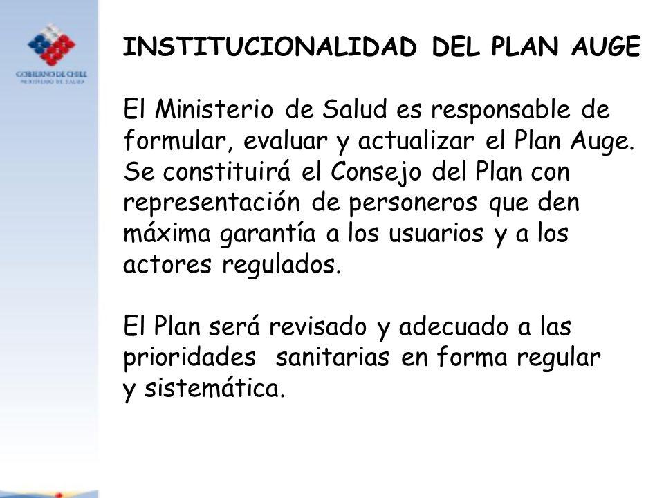 INSTITUCIONALIDAD DEL PLAN AUGE