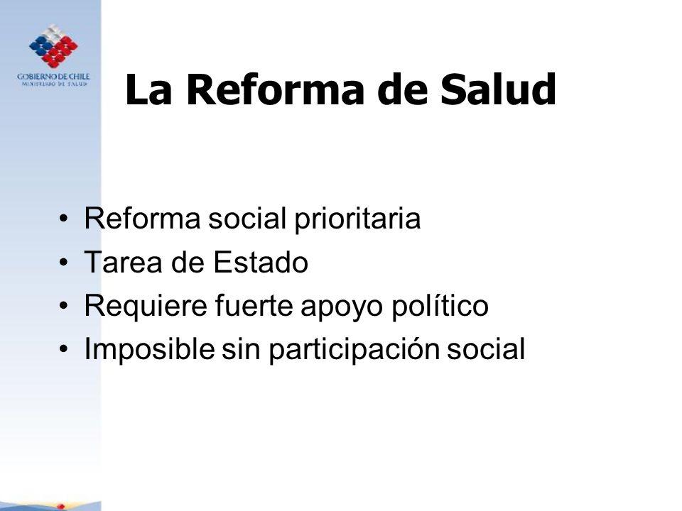 La Reforma de Salud Reforma social prioritaria Tarea de Estado