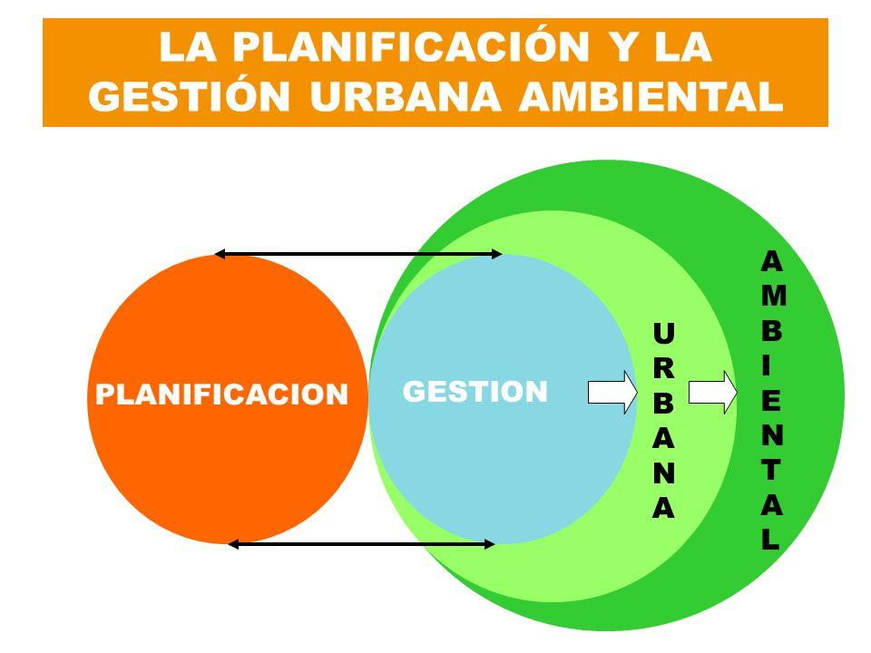 LA PLANIFICACIÓN Y LA GESTIÓN URBANA AMBIENTAL