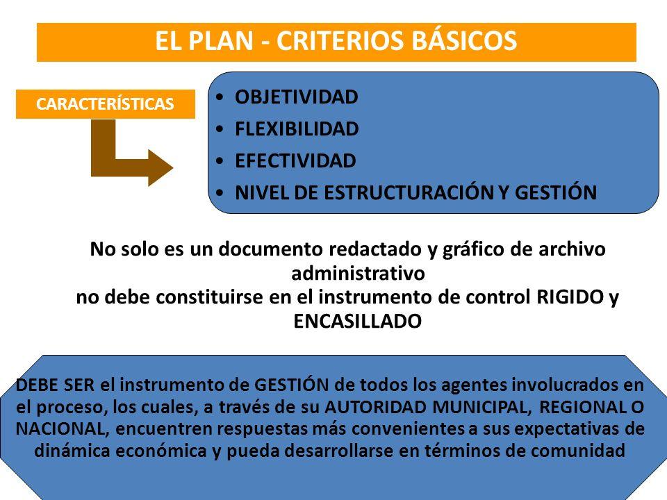 EL PLAN - CRITERIOS BÁSICOS