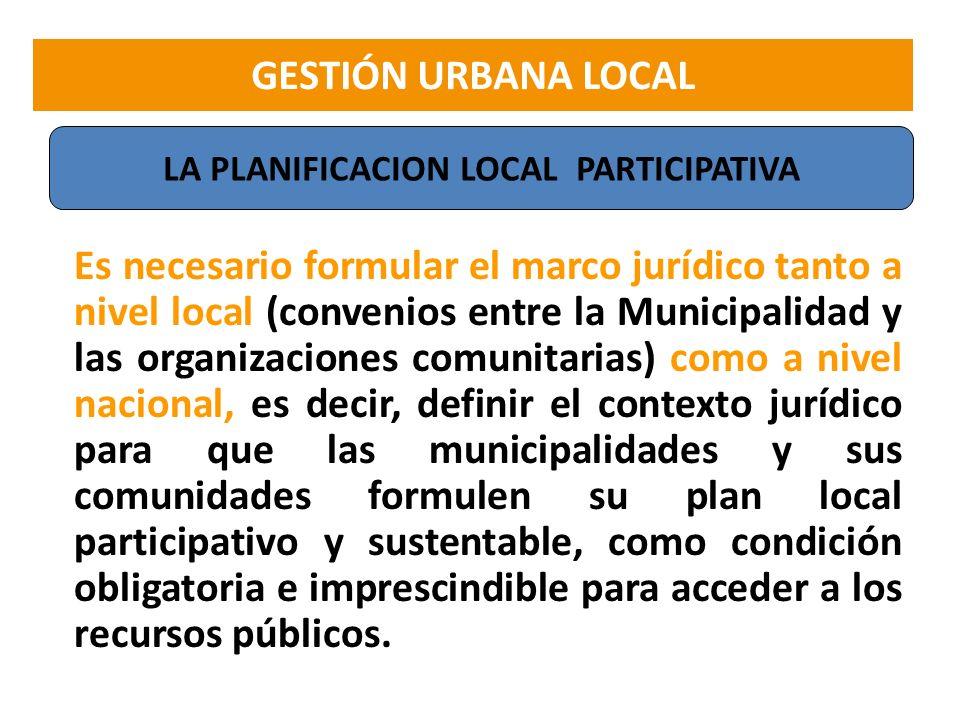 LA PLANIFICACION LOCAL PARTICIPATIVA