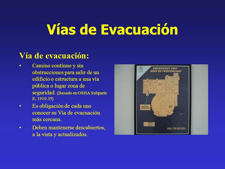 Vías de Evacuación Vía de evacuación:
