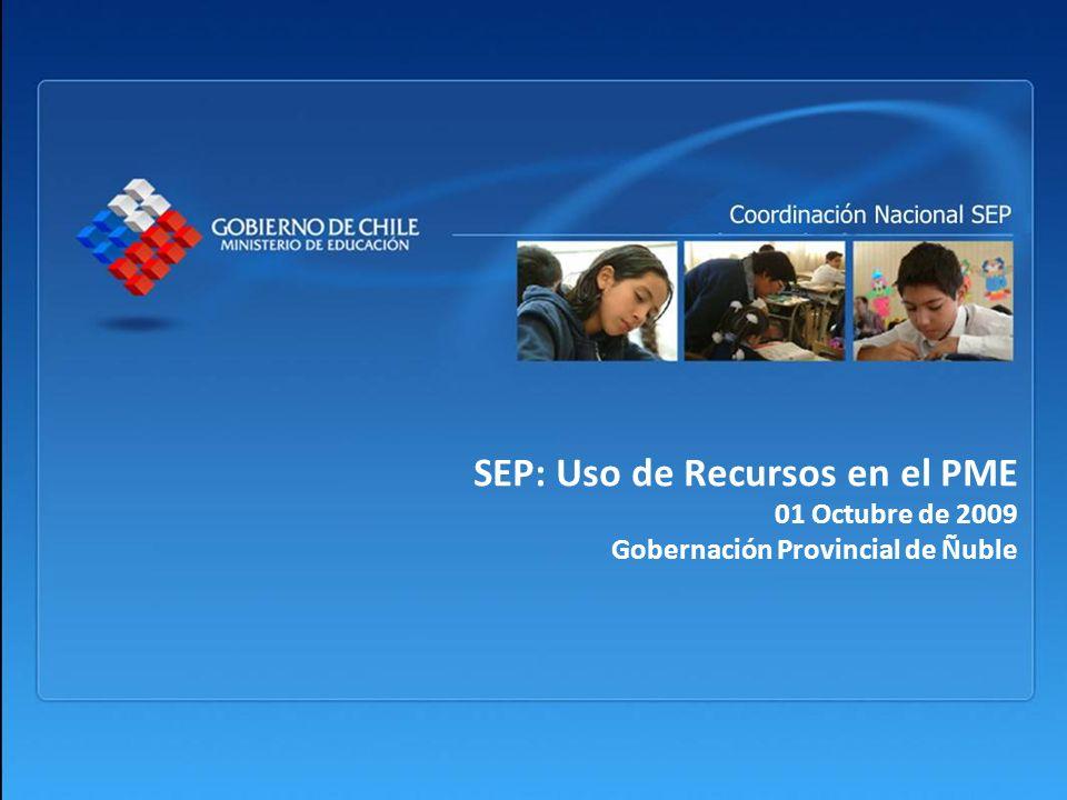 SEP: Uso de Recursos en el PME