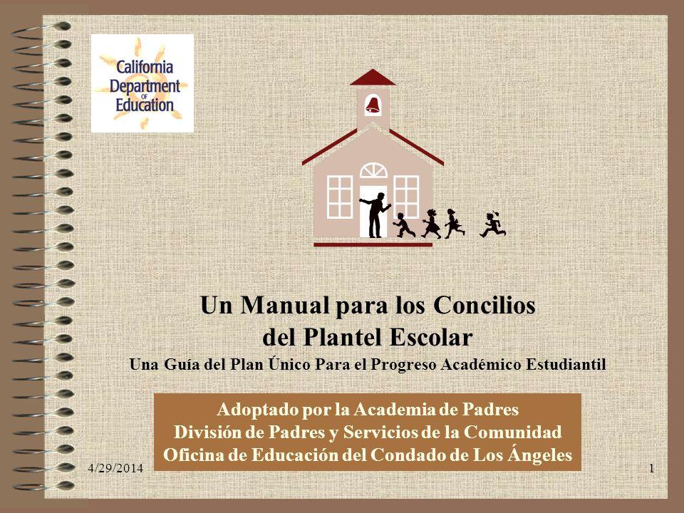 Un Manual para los Concilios del Plantel Escolar