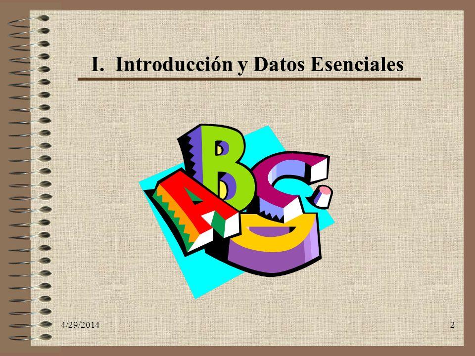 I. Introducción y Datos Esenciales
