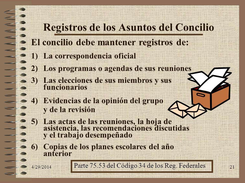 Registros de los Asuntos del Concilio