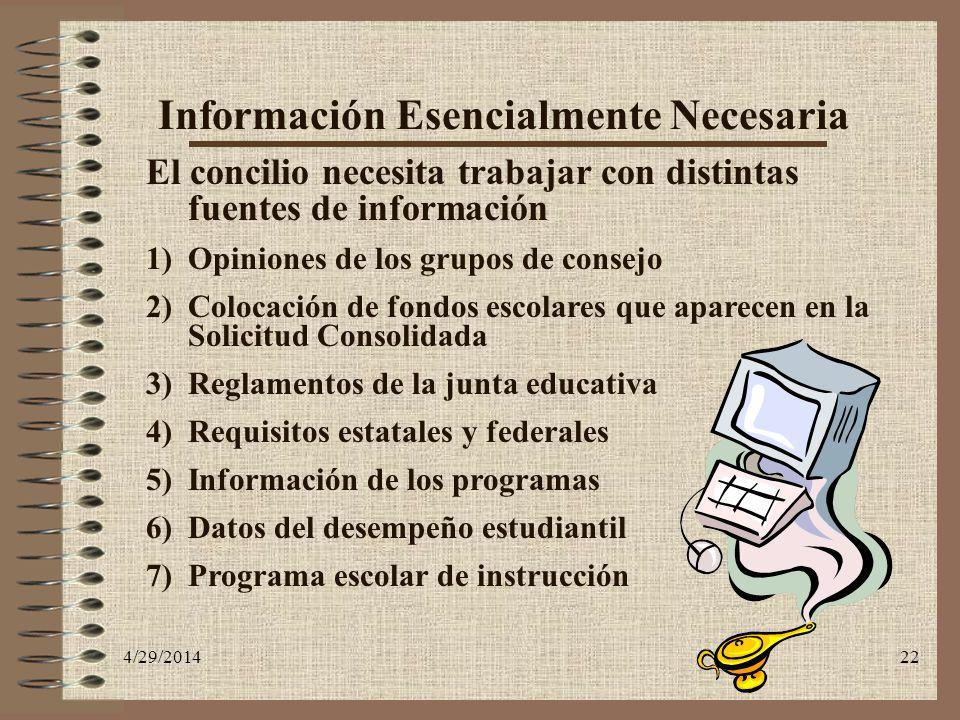 Información Esencialmente Necesaria