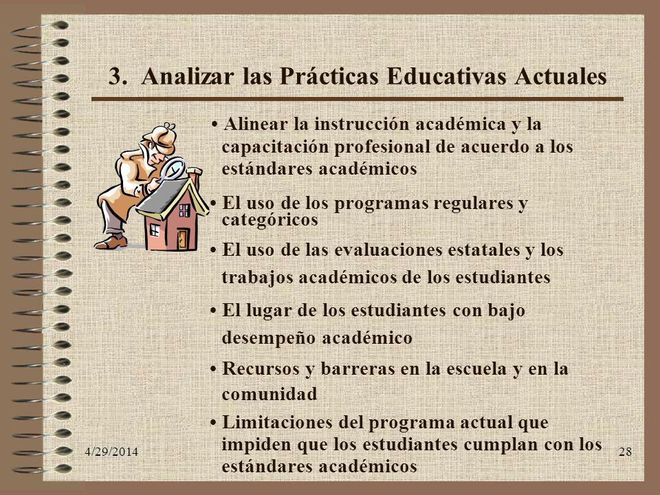 3. Analizar las Prácticas Educativas Actuales