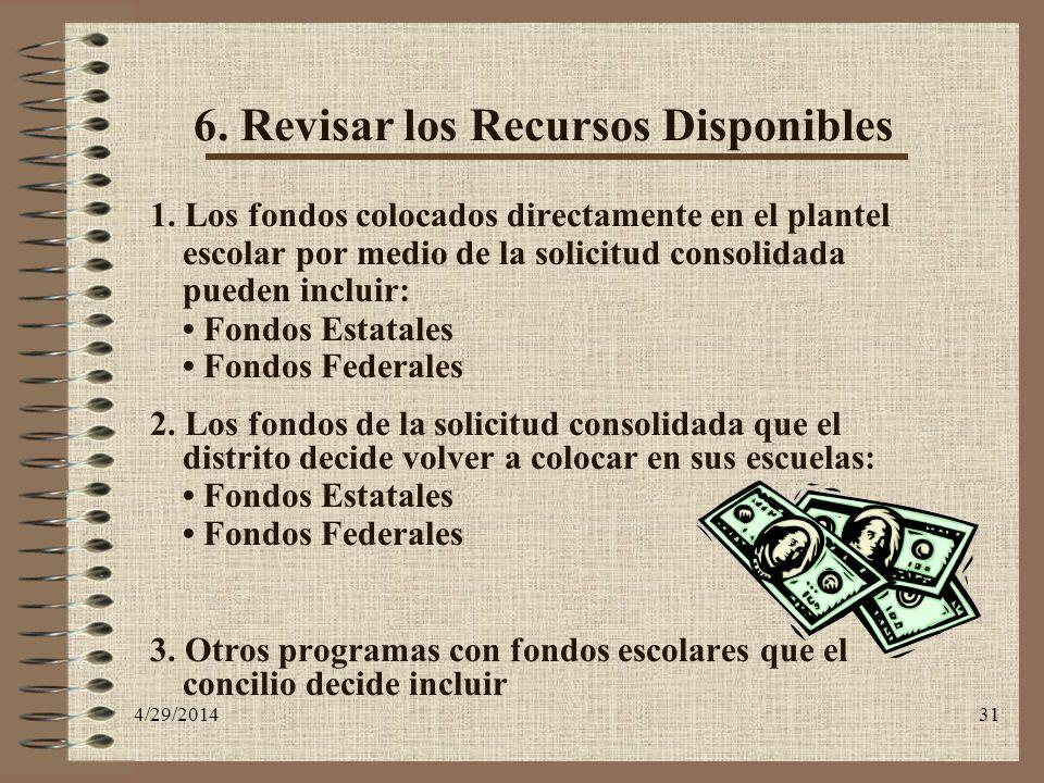 6. Revisar los Recursos Disponibles