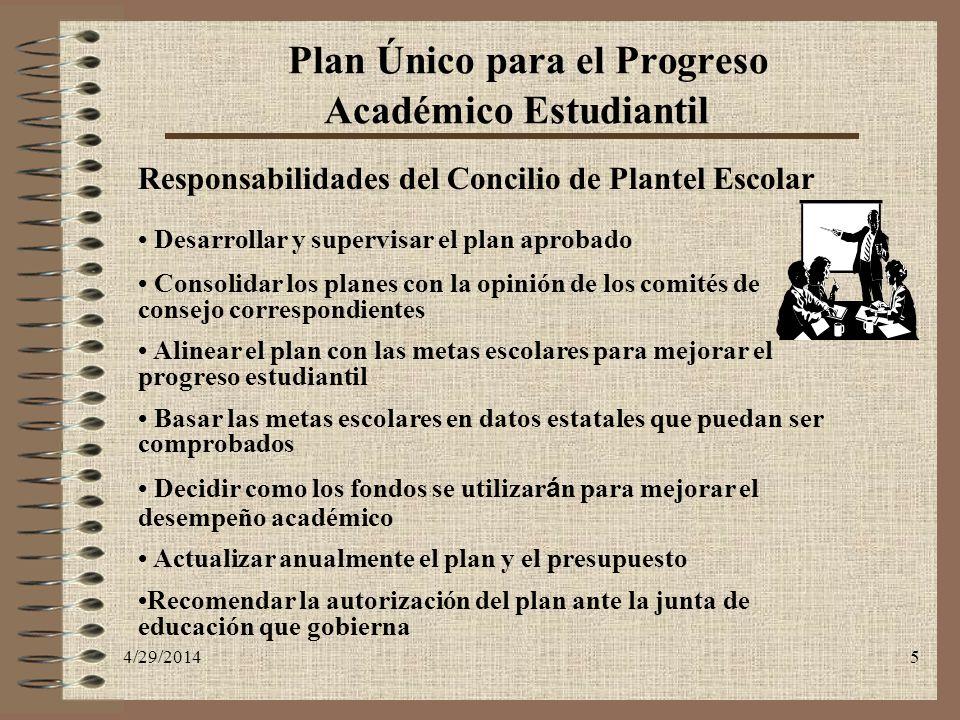 Plan Único para el Progreso Académico Estudiantil