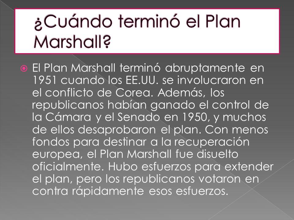 ¿Cuándo terminó el Plan Marshall